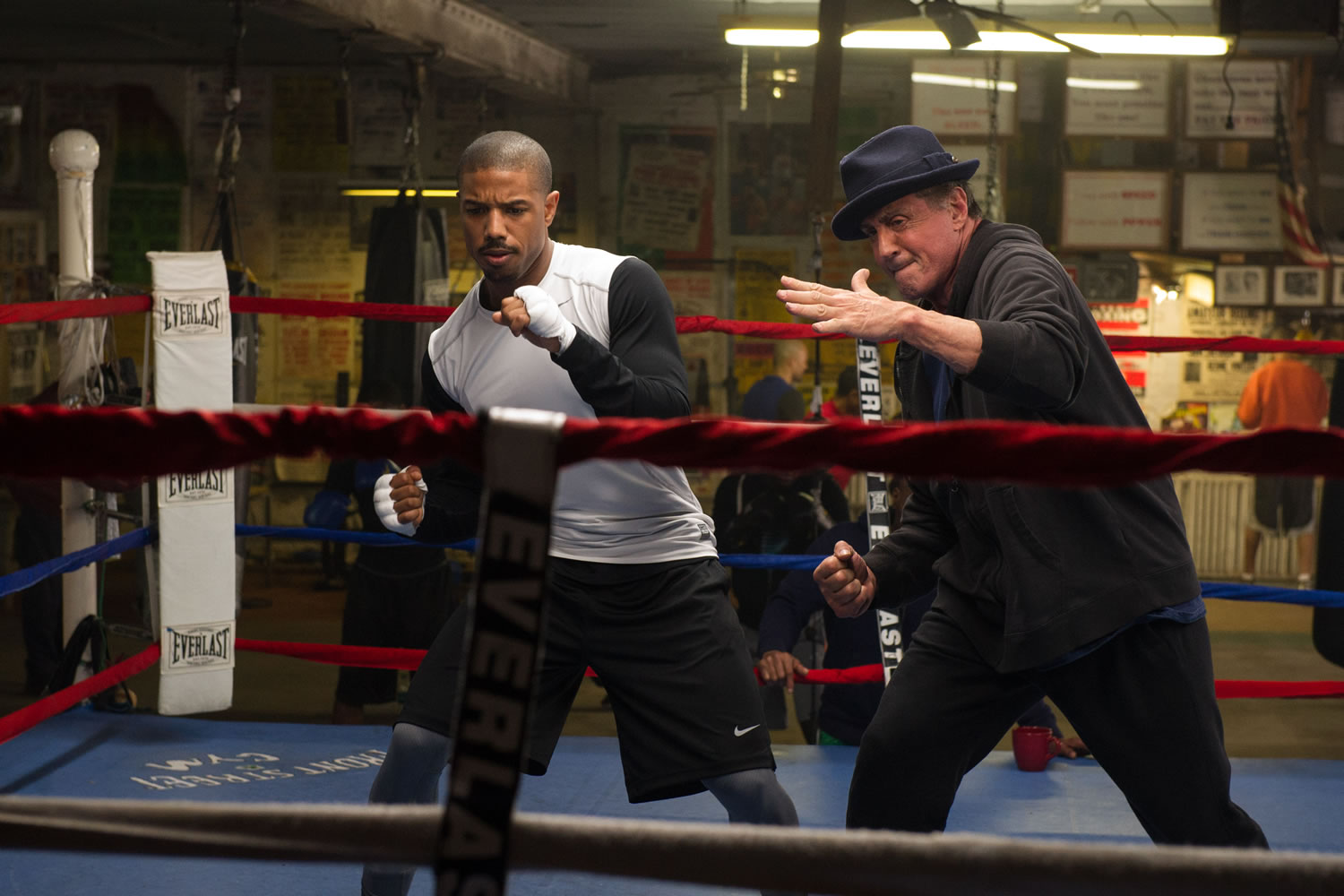 Michael B. Jordan and Sylvester Stallone starring in Creed - image credit © 2015 Metro-Goldwyn-Mayer Pictures Inc. and Warner Bros. Entertainment Inc. All Rights Reserved""