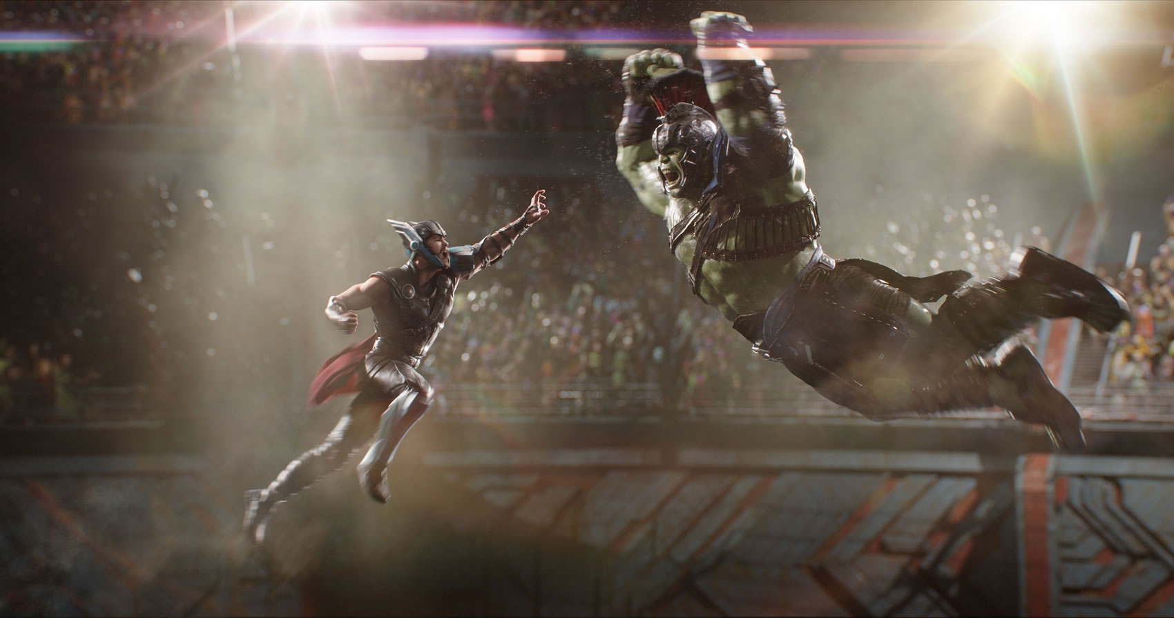 2017 Year in Review - Marvel Studios Thor: Ragnarok..L to R: Thor (Chris Hemsworth) and Hulk (Mark Ruffalo)..Photo: Film Frame..©Marvel Studios 2017