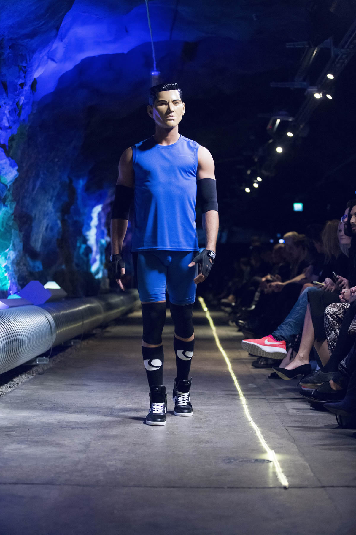 First person lover avatars on runway in björn borg show @fashion week stockholm