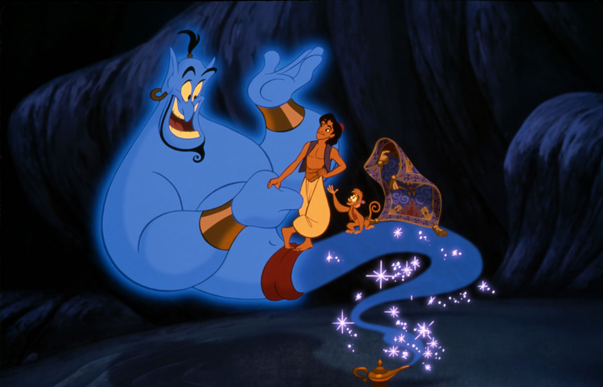 Williams voiced the Genie in Aladdin © Disney*