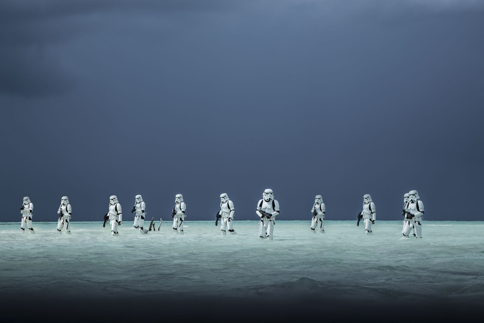 Rogue One: A Star Wars Story..Stormtroopers..Ph: Jonathan Olley..©Lucasfilm LFL 2016. Copyright: 2015 Lucasfilm Ltd. & ™, All Rights Reserved.