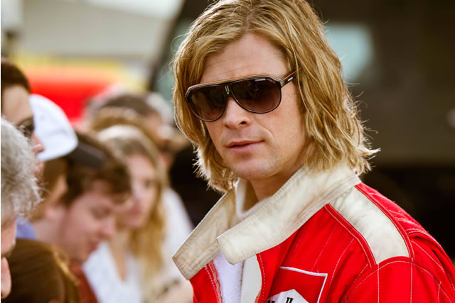 Chris Hemsworth as James Hunt in Rush*