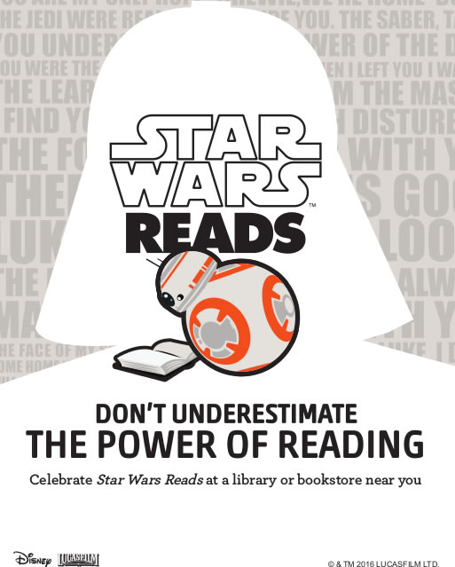 Star Wars Reads 2016 Copyright: Lucasfilm Ltd. & ™, All Rights Reserved