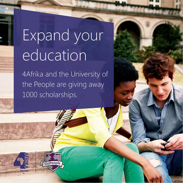 Microsoft provides 1,000 UoPeople scholarships!